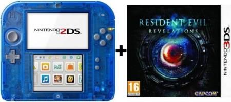 2DS transparente bleue + Resident Evil : Revelations