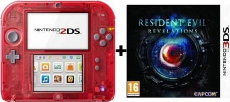 2DS transparente rouge + Resident Evil : Revelations
