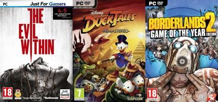 """3 jeux """"Justforgames"""" pour le prix de 2"""