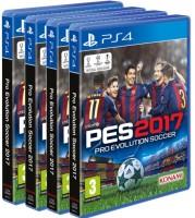 4 exemplaires de PES 2017 (PS4)