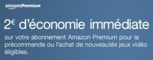 2€ de réduction par précommande de jeu pour les membres Amazon Premium
