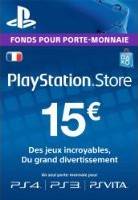 Carte Playstation Network de 15€ (PS4, PS3, PS Vita)