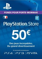Carte Playstation Network de 50€ (PS4, PS3, PS Vita)