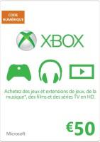 Carte Xbox Live de 50€ (Xbox One, Xbox 360)