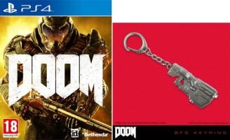 Doom + porte-clés (PS4)