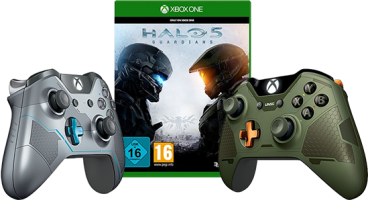 Halo 5 Guardians + manette Spartan Lock ou Master Chief (Xbox One)