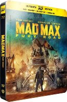 Mad Max : Fury Road édition limitée steelbook (blu-ray, blu-ray 3D, DVD)