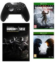 Manette Xbox One Elite + Rainbow Six : Siege édition collector + Halo 5 Guardians + Rise of the Tomb Raider
