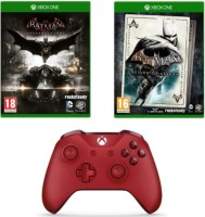Manette Xbox One Rouge + Batman : Return to Arkham + Batman Arkham Knight