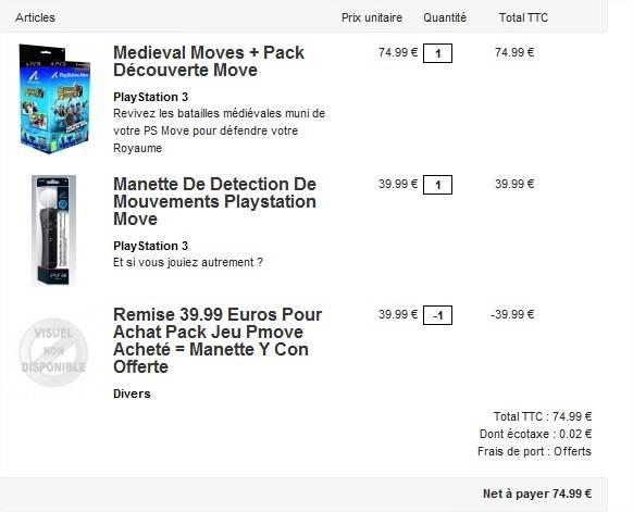 newest new authentic uk cheap sale Un pack Playstation Move acheté = 1 manette Playstation Move ...
