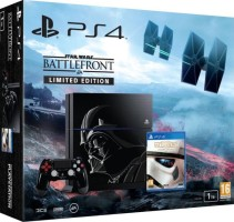 "PS4 pack ""Star Wars : Battlefront"" avec console limitée ""Dark Vador"""