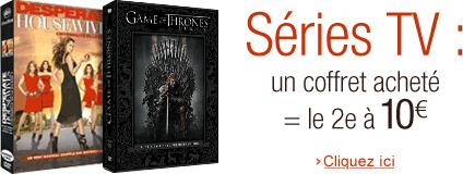 Séries TV : un coffret acheté = le second à 10€