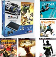 Pack PS3 12 Go + 5 jeux offerts