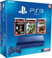 PS3 Ultra Slim 500 Go bleue + MotorStorm Pacific Rift + Uncharted + Heavy Rain