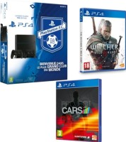 PS4 1 To + 2e manette + The Witcher III Wild : Hunt + Project Cars