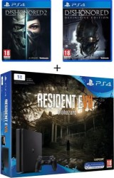 """PS4 Slim 1 To pack """"Resident Evil 7"""" + Dishonored 1 & 2"""