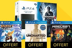 """PS4 1 To Pack """"Uncharted 4"""" + Ratchet & Clank + Uncharted Collection + Minecraft"""