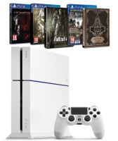 PS4 500 Go blanche + Metal Gear Solid V + Fallout 4 + Assassin's Creed : Syndicate