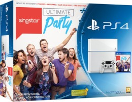 """PS4 blanche pack """"Singstar"""""""