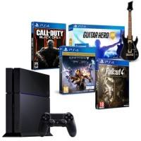 PS4 500 Go + Call of Duty Black Ops III + Destiny le Roi des Corrompus + Guitar Hero Live + Fallout 4