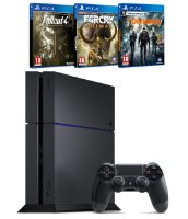 PS4 1 To + Far Cry Primal + The Division + Fallout 4