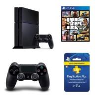 PS4 + manette supplémentaire + GTA V + 3 mois de PS+