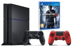 PS4 + manette supplémentaire + Uncharted 4
