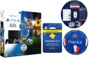 PS4 1 To + PES Euro 2016 + manette 20e anniversaire + abonnement 3 mois au PS+