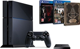 PS4 500 Go + PS TV + Assassin's Creed Syndicate + Metal Gear Solid V : The Phantom Pain