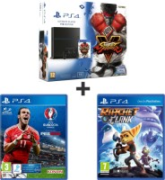 """PS4 1 To pack """"Street Fighter V"""" + UEFA Euro 2016 + Ratchet & Clank"""