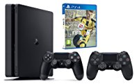 PS4 Slim 1 To + DualShock 4 v2 supplémentaire + FIFA 17