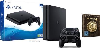 Console PS4 Slim 1 To + manette supplémentaire + Uncharted 4 édition limitée
