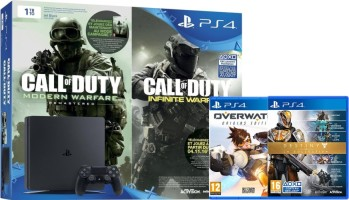 """PS4 Slim 1 To pack """"Call of Duty Infinite Warfare + Call of Duty Modern Warfare Remastered"""" + Overwatch + Destiny La collection"""