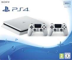 PS4 Slim 500 Go blanche + 2 manettes