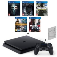 PS4 Slim 500 Go + Dishonored 1 & 2 + Mafia III + Call of Duty Infinite Warfare + Destiny la collection