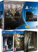 "PS4 pack ""The Order 1886"" + Fallout 4 + Dishonored Definitive Edition"