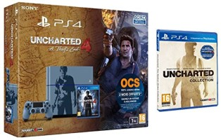 """PS4 1 To édition limitée """"Uncharted 4: A Thief's End"""" + Uncharted Collection"""