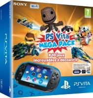 PS Vita Mega Pack (console PS Vita + carte mémoire 8 Go + 10 jeux dématérialisés)