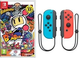 Super Bomberman R + Joy-cons colorés