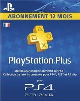 12 mois de PlayStation+ (PS4, PS3, PS Vita)