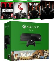 """Xbox One 1 To Pack """"Fallout 4"""" + The Evil Within + Call of Duty Black Ops III + Wolfenstein : The New Order"""