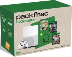 "Xbox One S pack ""FIFA 17"" + GTA V + Gears of War 4 + Casque"