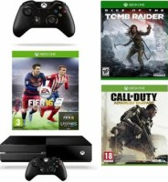 "Xbox One 1 To pack ""FIFA 16"" + 2e manette + Halo 5 Guardians + Call of Duty: Advanced Warfare"