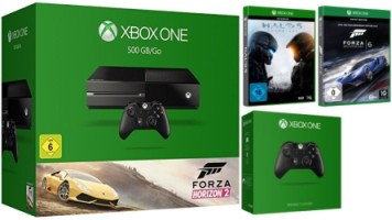 "Xbox One 500 Go pack ""Forza Horizon 2"" + 2e manette + Halo 5 Guardians + Forza Motorsport 6"