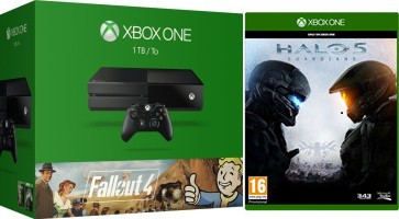 """Xbox One 1 To Pack """"Fallout 3 + Fallout 4"""" + Halo 5 Guardians"""