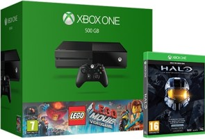 Xbox One 500 Go + Lego la grande aventure + Halo: The Master Chief Collection