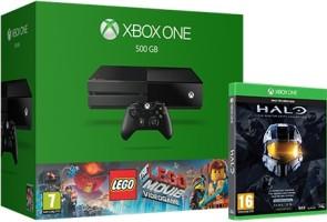 Xbox One 500 Go + Lego la grande aventure + Halo: The Master Chief Collection