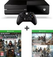 Xbox One 500 Go + Assassin's Creed Black Flag + Assassin's Creed Unity + Assassin's Creed Syndicate [FR] à 299€