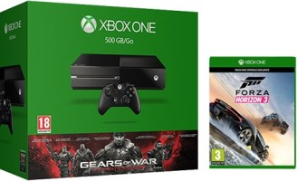 """Xbox One 500 Go pack """"Gears of War Ultimate Edition"""" + Forza Horizon 3"""