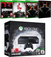"""Xbox One 1 To Pack """"Rise of the Tomb Raider"""" + The Evil Within + Call of Duty Black Ops III + Wolfenstein : The New Order"""